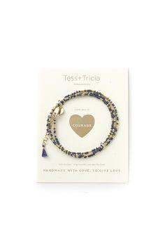 """""""Courage"""" Little Lovelies Triple Wrap Bracelet"""