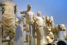 Statues from Pediment of Temple of Zeus at Olympia