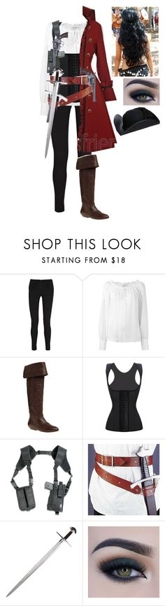 """Pirates right?"" by thearcher-and-themoon ❤ liked on Polyvore featuring T By Alexander Wang, Frame, Newport News, Holster, S.W.O.R.D., Too Faced Cosmetics and Overland Sheepskin Co."