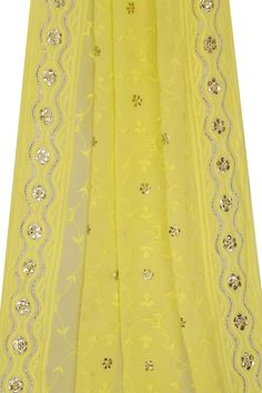 Ada Hand Embroidered Yellow Georgette Chikan Dupatta- A581614 offers a comfortable and relaxed silhouette to the wearer  #Adachikan #chikankari #handembroidered #Lucknowi #Lakhnavi #chikan