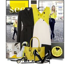 """""""Yellow & Black"""" by brendariley-1 on Polyvore"""