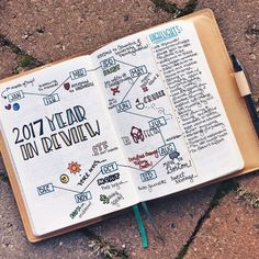 Planning for the New Year in your Bullet Journal - Zen of Planning Setting up a new bullet journal doesn't need to be overwhelming. Here you'll find TONS of examples on how to plan for the future and keep track of the present. Bullet Journal Review, Bullet Journal Yearly, Bullet Journal Hacks, Bullet Journal Spread, Bullet Journal Layout, Bullet Journal Inspiration, Bullet Journals, Bullet Journal Goals Layout, Bullet Journal Vision Board