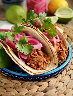 Slow Cooker Cochinita Pibil Tacos (Yucatan Pulled Pork)