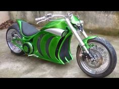 Electric motorcycle Custom dragster homemade - YouTube
