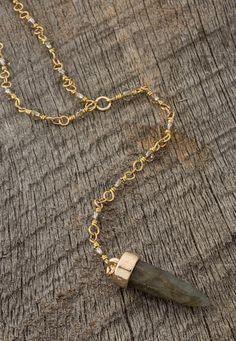 beaded stone necklace - Lacey Ryan Collection - maurices.com