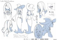 Little Witch Academia Model Sheet