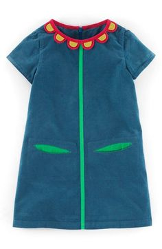 Mini Boden 'Sixties' Corduroy Shift Dress (Toddler Girls, Little Girls & Big Girls) available at #Nordstrom