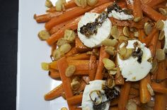 Charred Carrots With Caramelized Goat Cheese and Wild Garlic Chips