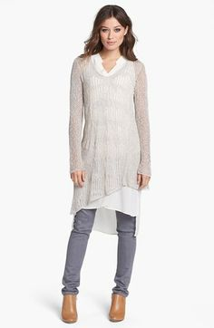 Eileen Fisher V-Neck Tunic Sweater (Regular & Petite) available at #Nordstrom