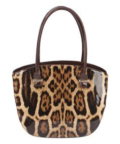 Another great find on #zulily! Brown & Gold Leopard Shoulder Bag…