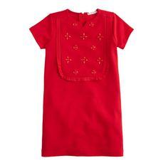 Girls' embellished bib dress : party dresses | J.Crew