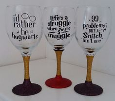 Harry Potter Dumbledore Gryffindor Muggles Glitter Wine Glass in Home, Furniture & DIY, Celebrations & Occasions, Other Celebrations & Occasions | eBay!