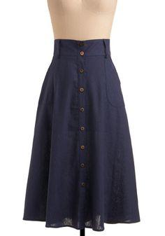 Modest navy skirt