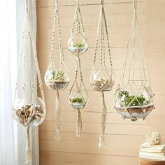 5 Hand Braided Macramé Plant Hanger Set - The Alley Exchange