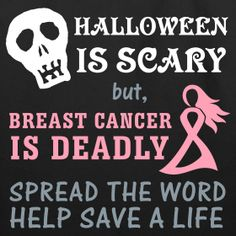 pink halloween for breast cancer halloween is scary breast cancer is deadly candy - Halloween Is Scary