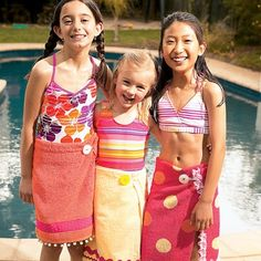 From towel to cute cover up! Become your child's own personal fashion designer with with fun craft idea