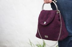 Noni Anouk Felted Bag knit in Valley Yarns Northampton made by Karen