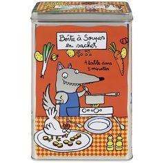Boîte à soupes en sachet A table - Derrière La Porte DLP - Accessoire cuisine et rangement/Boîte métal et céramique - espritlogis-fr