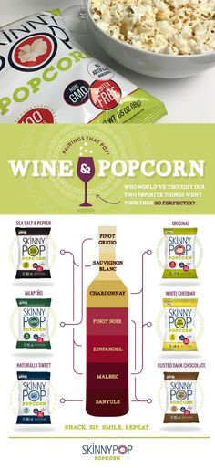 If you watch Scandal you know that Wine and Popcorn is Olivia Pope's favorite. Skinny Pop made it easy to figure out the perfect pairing.  via @spoonsstilettos