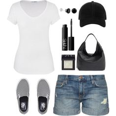 Vans by cindycook10 on Polyvore featuring maurices, Current/Elliott, Vans, Rebecca Minkoff, rag & bone and NARS Cosmetics