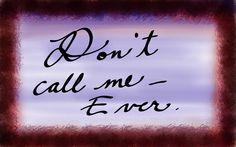 Ebenezer Dogfood: Don't call me - Ever.