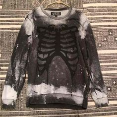 Acid washed skeleton rib long pullover sweater from hot topic - Mercari: Anyone can buy & sell  Click to see the rest of my closet on sale!
