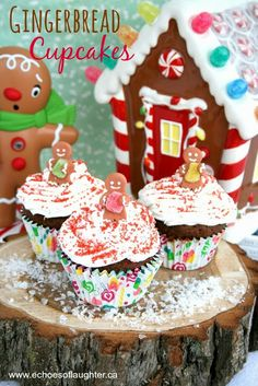 Gingerbread Cupcakes with Cream Cheese Frosting ~ yummy recipe