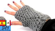 Cómo hacer guantes con ganchillo Paso a Paso - Guantes sin Dedos  a Croc...