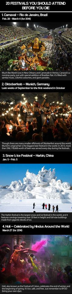 20 awesome festivals around the world! #1 @Amanda Snelson Krasulick