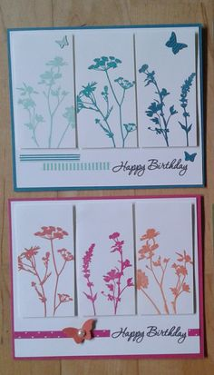 Sympathy or Birthday wildflowers Hand Made Greeting Cards, Making Greeting Cards, Greeting Cards Handmade, Handmade Birthday Cards, Happy Birthday Cards, Card Creator, Watercolor Cards, Paper Cards, Flower Cards