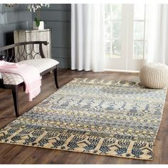 Rug BOH648A - Bohemian Area Rugs by Safavieh ❤ liked on Polyvore featuring home, rugs, bohemian style rugs, boho style rugs, safavieh, bohemian style area rugs and pile rug