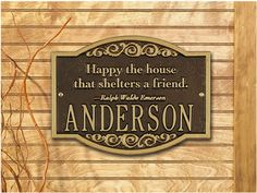 Emerson Family Name Plaque