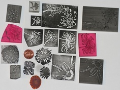 Hand carved  flowers  Lotte Huxley  Flickr - Photo Sharing! Hand Carved, Stamping, Carving, Plant, Flowers, Pattern, Life, Stamping Up, Wood Carving