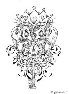 Tattoo poker face