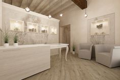 Arredamento centro estetico arredamento nel 2019 salon for Arredamento reception estetica