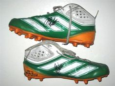 Chris Watt Notre Dame Fighting Irish Game Worn & Signed IRELAND Green, White & Orange Adidas Cleats (Worn vs Navy Midshipmen in Emerald Isle Classic on September 1st, 2012 in Dublin, Ireland)