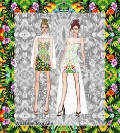 Auriele (desenhos de Moda): tropicalismo! VERÃO 2013