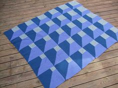 This is an afghan but OH BOY would it make a cool quilt. A New Angle - Optical illusion afghan