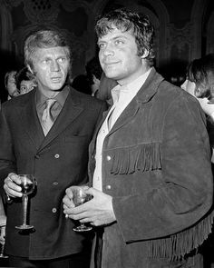 #Sixties | Steve McQuen and Oliver Reed, London, 1969. Photo by Cliff Kent/REX.