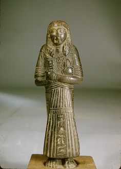 Shabti of Miptah Period: New Kingdom, Ramesside Dynasty: Dynasty 19–20 Date: ca. 1295–1070 B.C. Geography: From Egypt Medium: Steatite Credit Line: Gift of Ellen Barker, 1942 Accession Number: 42.4.2