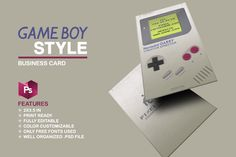 Gameboy Business Card by Marvel on Creative Market #businesscards #businesscardtemplates #businesscardsdesign