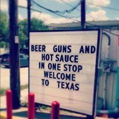 Drive thru liquor n guns....yup welcome to Texas