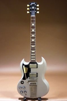 Gibson Custom Shop Historic Collection SG Standard Reissue Maestro Vos Lefty Silver Sparkle (2015)