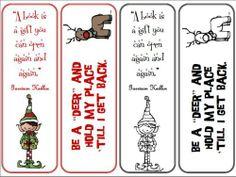 Seasonal printables: Christmas Bookmarks