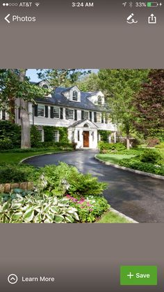 Lake Homes, East Coast, Curb Appeal, Beautiful Homes, Gardening, Exterior, Mansions, House Styles, Home Decor