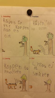 I ettan gör vi varje vecka en bokstavssaga. Den här hösten är det jag som hittills skrivit ned det som eleverna sagt till mig, lite som g...