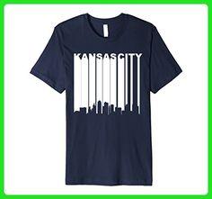 Mens Retro 1970's Kansas City Missouri Downtown Skyline T-Shirt Medium Navy - Retro shirts (*Amazon Partner-Link)