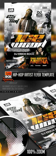 Smoke Party Flyer Party flyer, Psd templates and Smoking - hip hop flyer template
