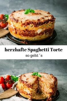 Spaghetti cake with minced meat - the perfect family meal - Gudrun - Greek Recipes Spaghetti Pie, Spaghetti Recipes, Mince Dishes, Tasty Dishes, Carne Picada, French Pastries, Healthy Eating Tips, Greek Recipes, French Recipes