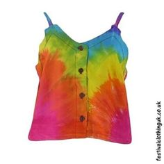 This rainbow tie dye rayon hippy crop top is just wonderful in the summer. Clothing Company, Clothing Items, Festival Crop Tops, Festival Outfits, Festival Clothing, Tie Dye Crop Top, Hippie Tops, Tie Dye Designs, Hippie Outfits